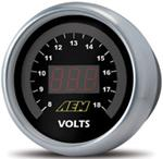 AEM 52mm Digital Voltmeter Gauge 8-18V Universal