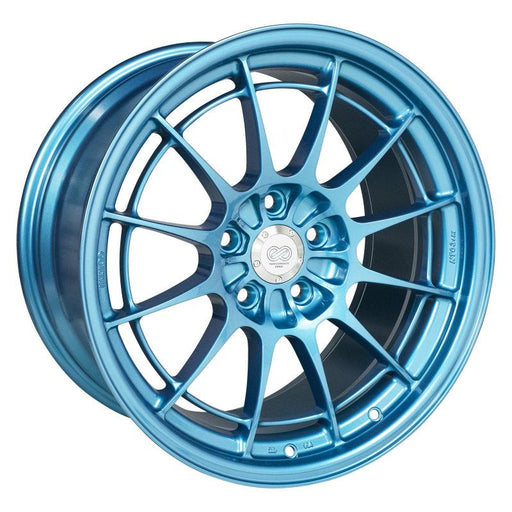 Enkei NT03+M 18x9.5 5x114.3 40mm Offset 72.6mm Bore Emerald Blue Wheel Universal