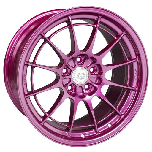 Enkei NT03+M 18x9.5 5x114.3 40mm Offset 72.6mm Bore Magenta Wheel Universal