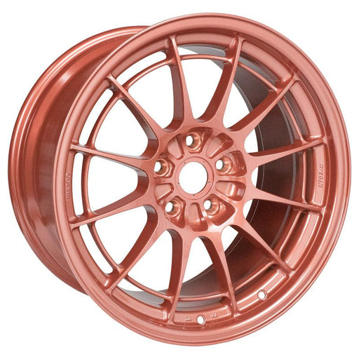 Enkei NT03+M 18x9.5 5x114.3 40mm Offset 72.6mm Bore Orange Wheel Universal