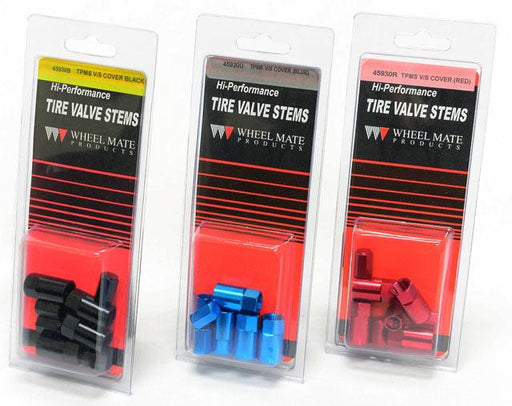 Wheel Mate Aluminum TPMS Valve Stem Cover Red Anodize Universal