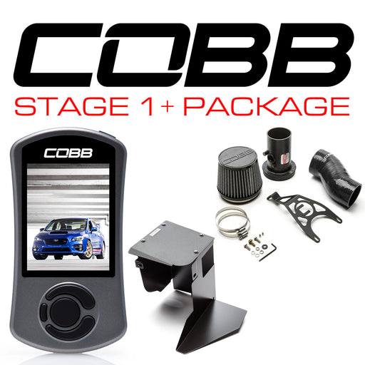 Cobb Tuning Stage 1+ Power Package w/ v3 Accessport Black Subaru 2015-2018 STI