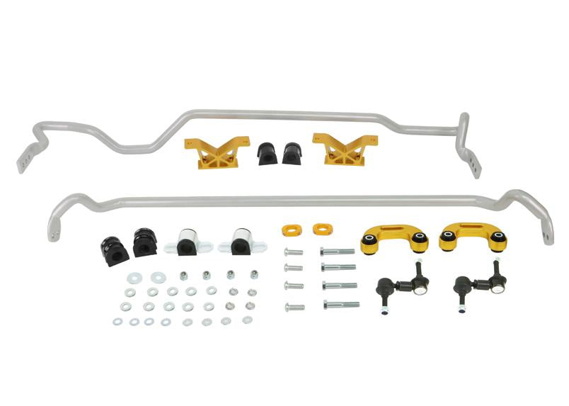 Whiteline Front And Rear Sway Bar 24mm Kit w/ Endlinks (SEDAN) Subaru 2004-2007 WRX
