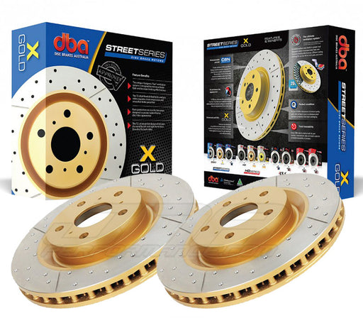 DBA Brakes Street Series Front Drilled And Slotted Rotors (Pair) Subaru 2005-2017 STI