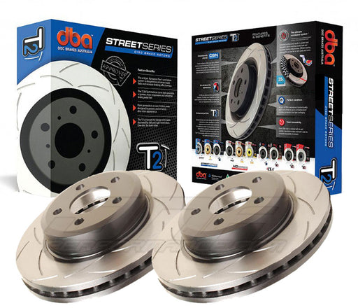 DBA Brakes Street Series Rear Slotted Rotors (Pair) Subaru 2004-2007 STI