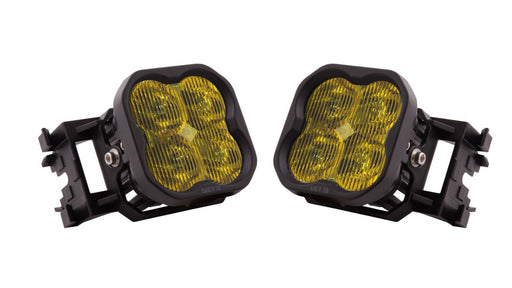 Diode Dynamics Worklight SS3 PRO Type X LED Fog Light Kit Yellow SAE Fog 2011-2014 WRX / 2011-2014 STI