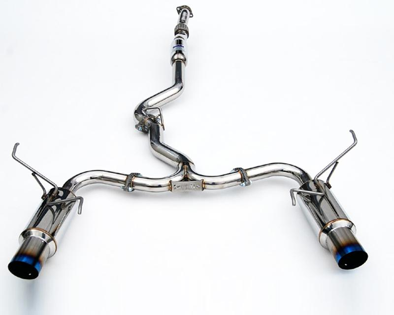 Invidia Dual N1 Stainless Steel Catback Exhaust w/ Ti Tips (HATCH) Subaru 2008-2014 WRX / 2011-2014 STI