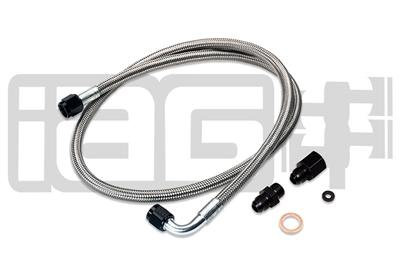 IAG Performance High Pressure Braided Power Steering Line (OEM Routing) Subaru 2002-2007 WRX / 2004-2007 STI