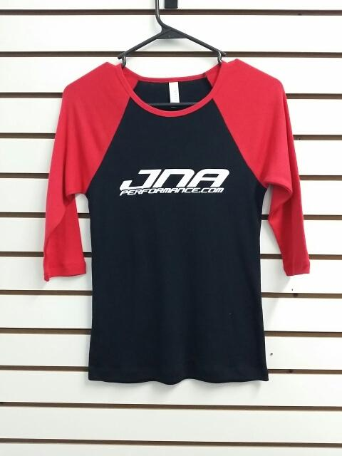 JNA Performance Ladies 3/4 Sleeve T-Shirt Red & Black Universal