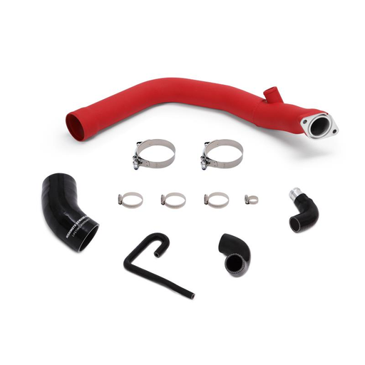 Mishimoto Charge Pipe Kit Hot Side Wrinkle Red Subaru 2015-2019 WRX