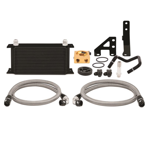 Mishimoto Thermostatic Oil Cooler Kit Black Subaru 2015-2018 WRX