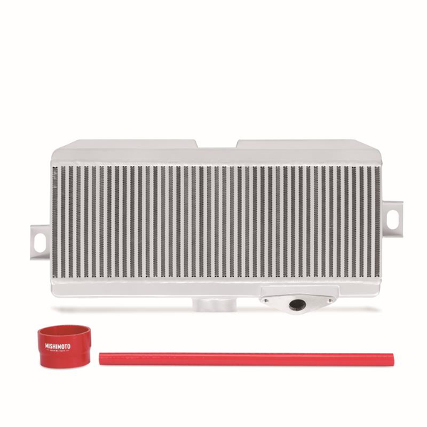 Mishimoto Top Mount Intercooler Silver w/ Red Hoses Subaru 2008-2019 STI