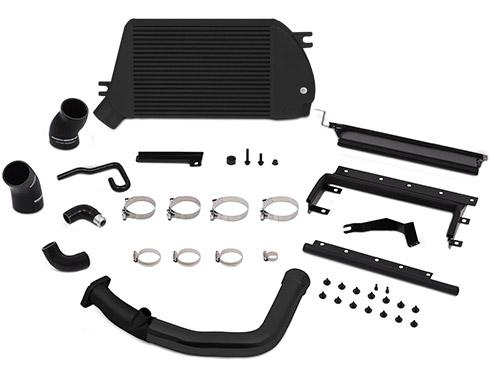 Mishimoto Top Mount Intercooler Kit Black Cooler And Black Pipes Subaru 2015-2018 WRX