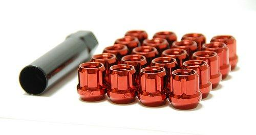 Muteki Spline Drive Lug Nuts Open Ended Red Universal