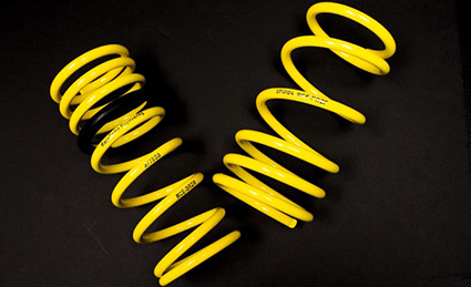 Racecomp Engineering Yellow Lowering Springs Subaru 2013-2019 BRZ