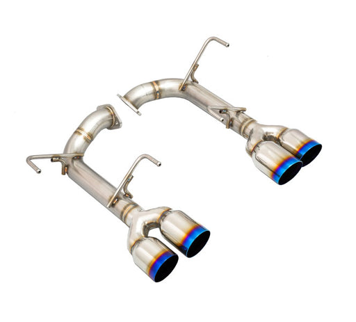Remark Axle Back Exhaust w/ Burnt Single Wall Tips 3.5 Inch Subaru 2015-2020 WRX / 2015-2020 STI