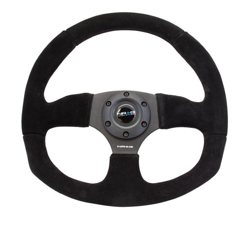 NRG 320mm Sport Suede Steering Wheel Flat Bottom Universal
