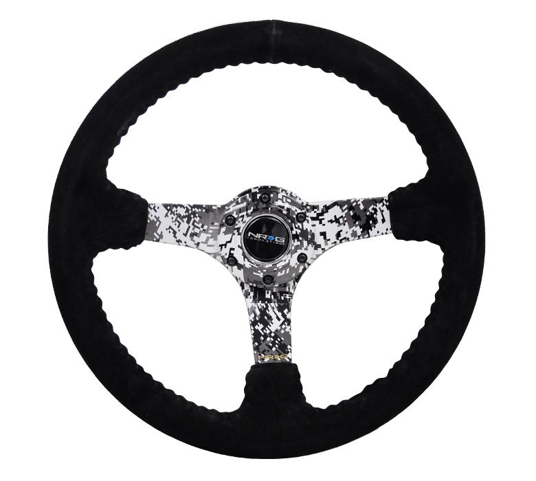 NRG 350mm Steering Wheel Suede Digital Camo Center Universal