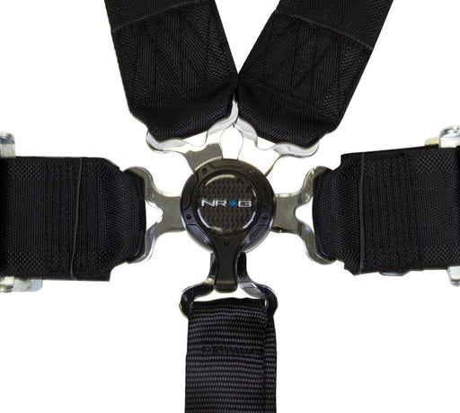 "NRG Seat Belt Harness 6PT 3"" w/ Cam Lock Black Universal"