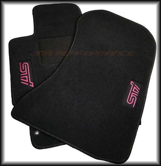 Subaru OEM JDM STI Floot Mats (Black) Front And Rear Included Subaru 2002-2007 WRX / 2004-2007 STI