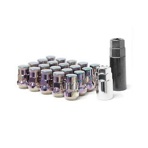 Muteki SR35 Lug Nuts Closed Ended Silver 35mm M12 x 1.25 Universal