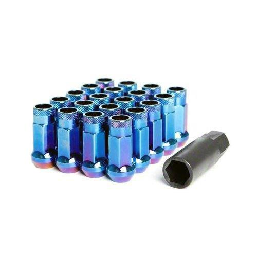 Muteki SR48 Lug Nuts Open Ended Burning Blue M12 x 1.25 Universal