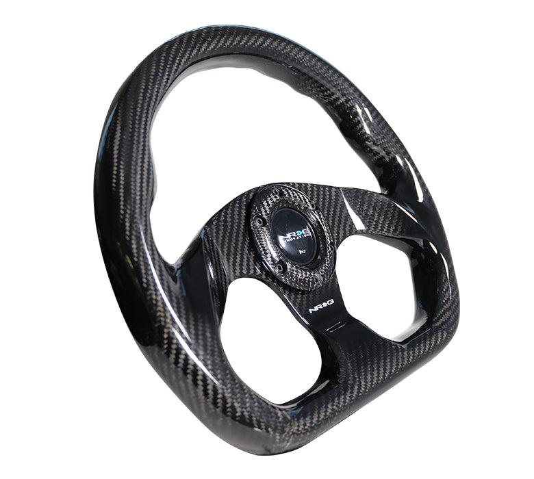 NRG 320mm Steering Wheel Carbon Fiber Flat Bottom Universal