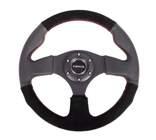 NRG 320mm Sport Suede Steering wheel w/ Red Stitching Universal