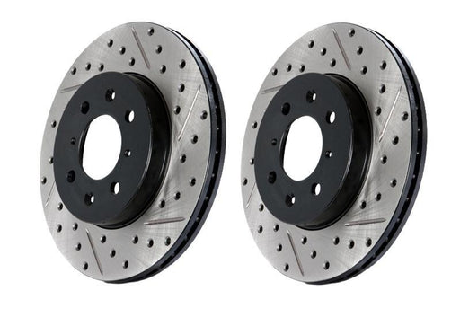 StopTech Drilled And Slotted Rotor Left Front Subaru 2015-2018 WRX
