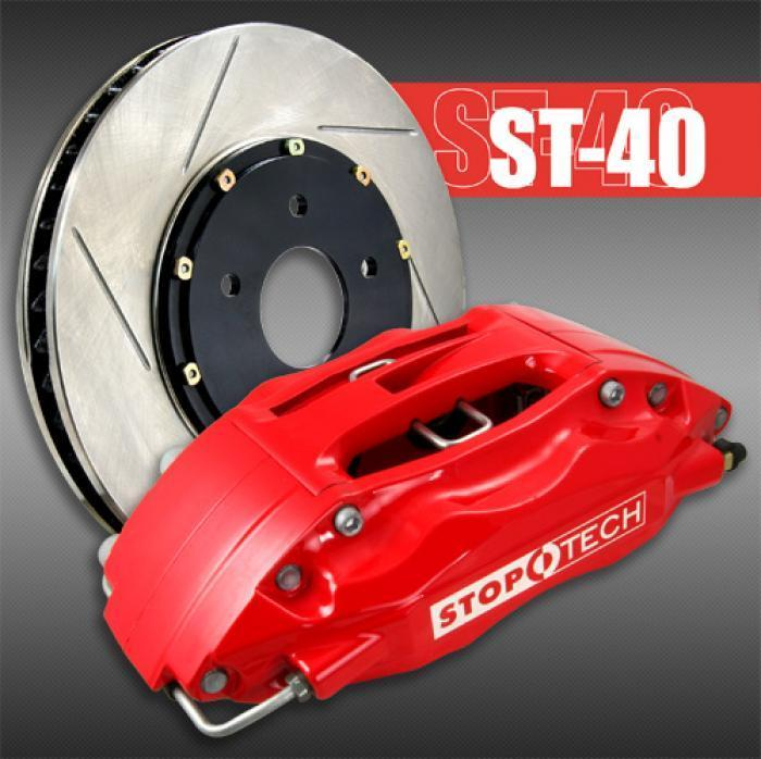 StopTech Big Brake Kit ST-40 Front 355mm Black Slotted Rotors Subaru 2008-2014 WRX