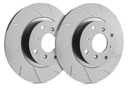 SP Performance Slotted ZRC Gray Front Rotors (Pair) Subaru 2009-2014 WRX