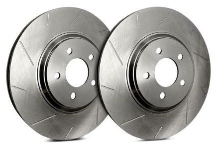 SP Performance Slotted Zinc Silver Front Rotors (Pair) Subaru 2009-2014 WRX