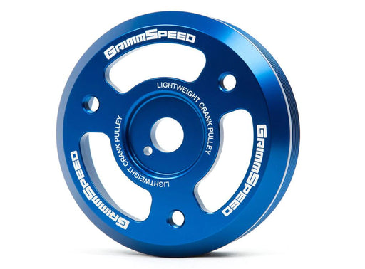GrimmSpeed Lightweight Crank Pulley Blue Subaru 2015-2018 WRX / 2013-2019 BRZ