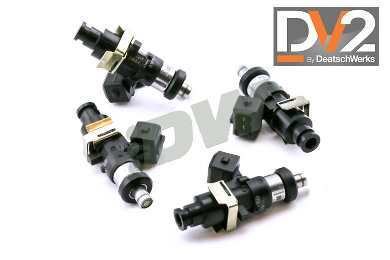 DeatschWerks Side Feed to Top Feed Fuel Rail Conv Kit w/ 1500cc Injectors Subaru 2004-2006 STI