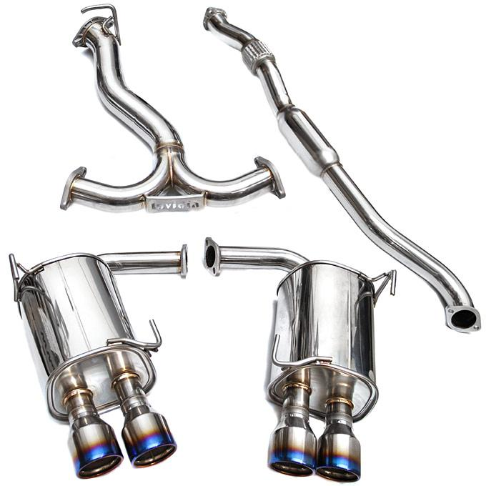 Invidia Q300 Stainless Steel Catback Exhaust w/ Ti Tips (SEDAN) Subaru 2011-2014 WRX / 2011-2014 STI