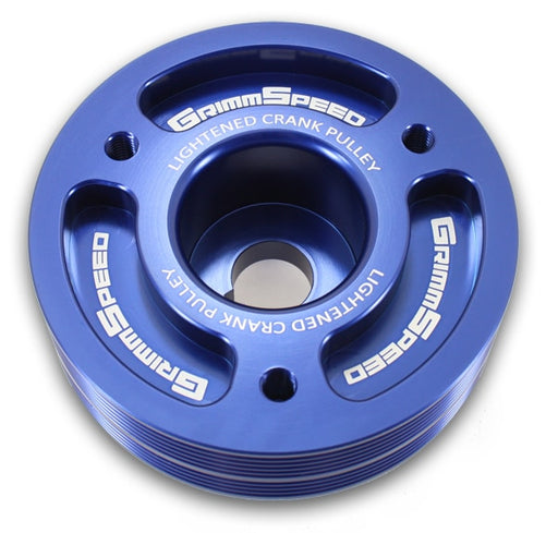 GrimmSpeed Lightweight Crank Pulley Blue Subaru 2002-2014 WRX / 2004-2019 STI