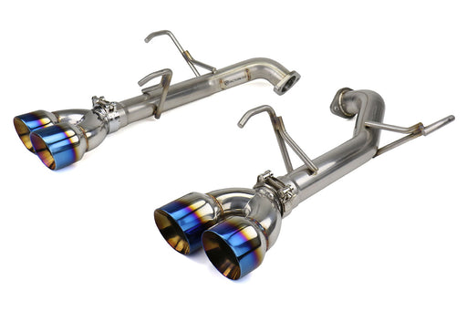 FactionFab Axle Back Exhaust w/ Staggered Burnt Tips (SEDAN) Subaru 2011-2014 WRX / 2011-2014 STI
