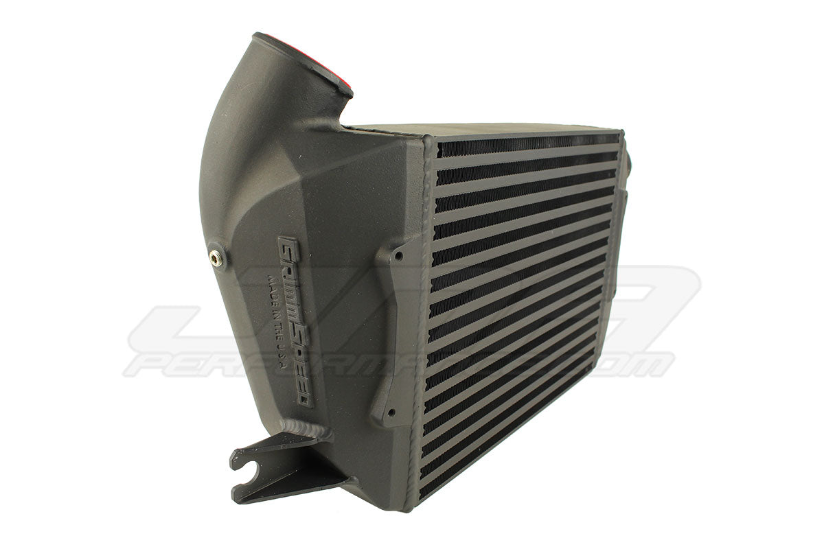 GrimmSpeed Top Mount Intercooler w/ Thermal Dispersant Coating Black Subaru 2015-2020 WRX