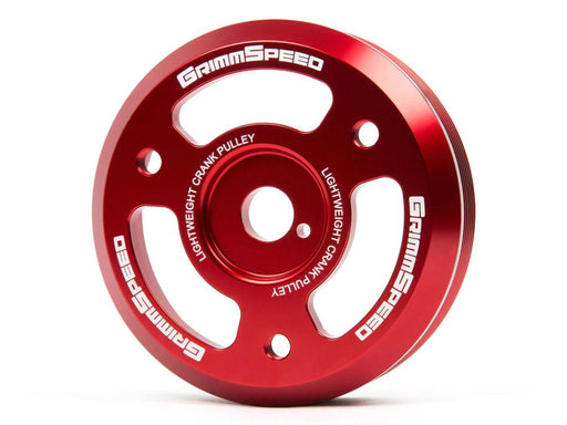 GrimmSpeed Lightweight Crank Pulley Red Subaru 2015-2018 WRX / 2013-2019 BRZ