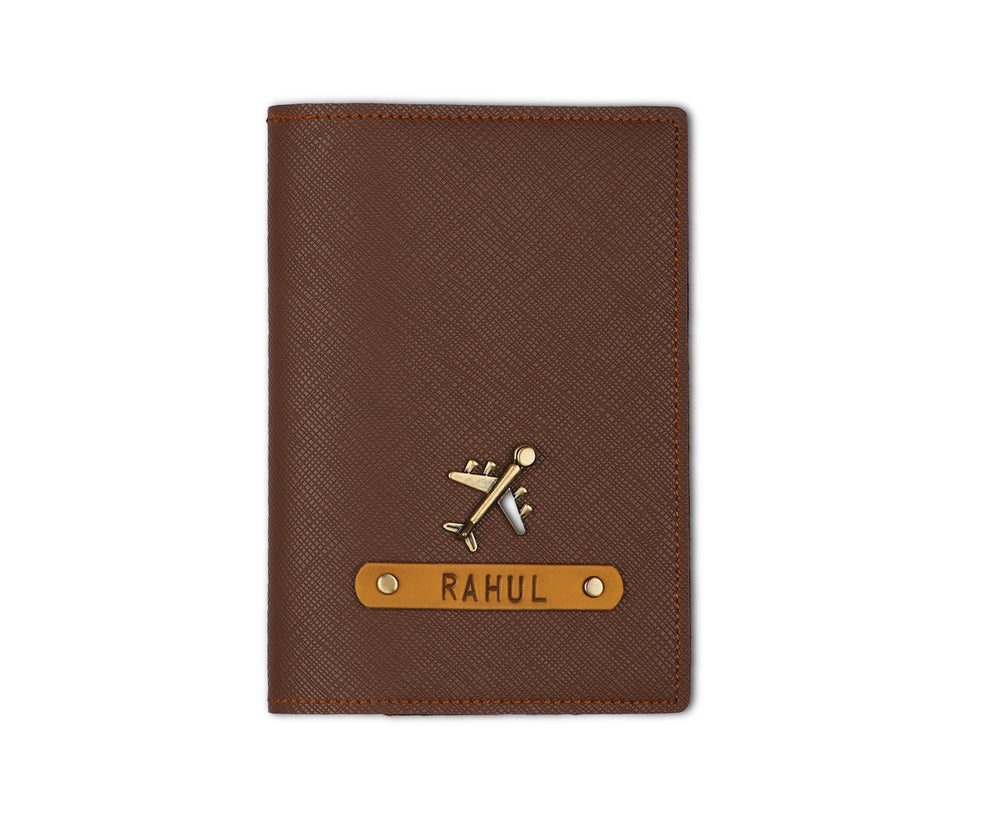 Dark Brown Textured Passport Cover