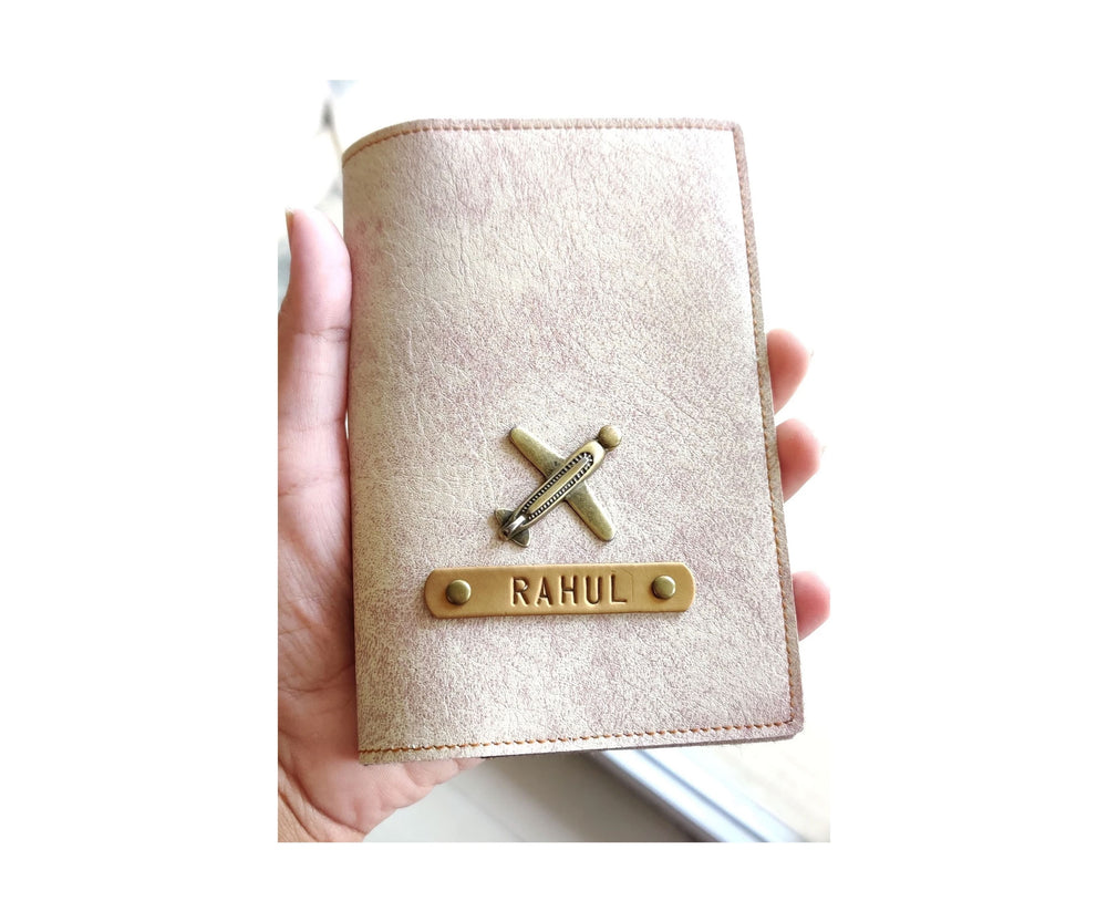Cookie n Cream Leather Finish Passport Cover - The Junket