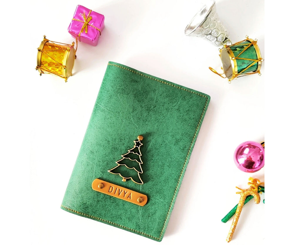 Emerald Green Leather Finish Passport Cover - The Junket