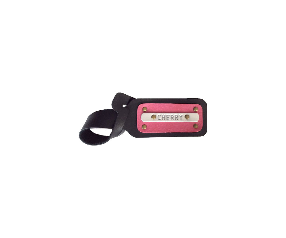 Classic Black with Gulabi Luggage Tag