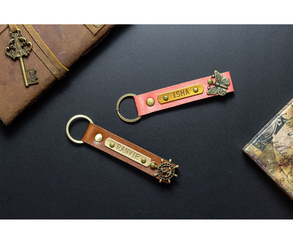 Personalized Set of 2 Keychains - The Junket