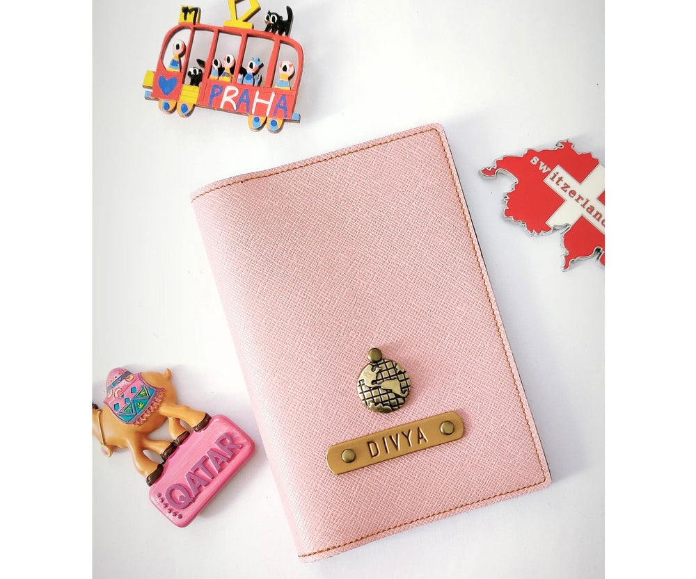 Onion Pink Textured Passport Cover - The Junket