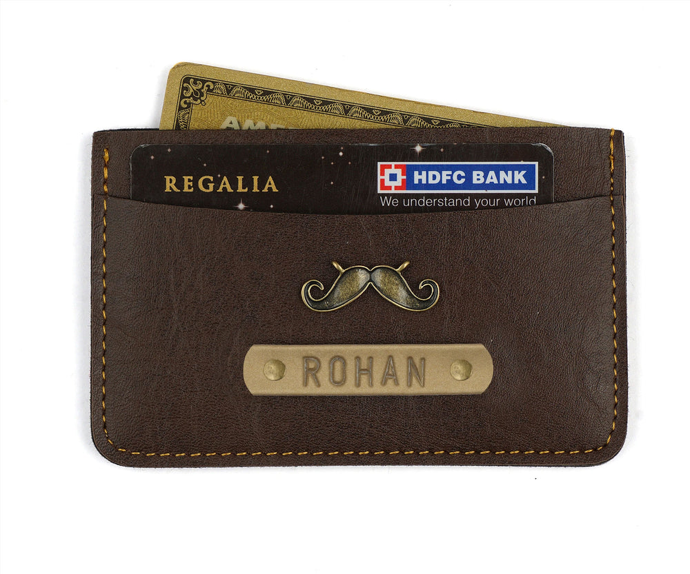 Dark Brown Card Holder - The Junket