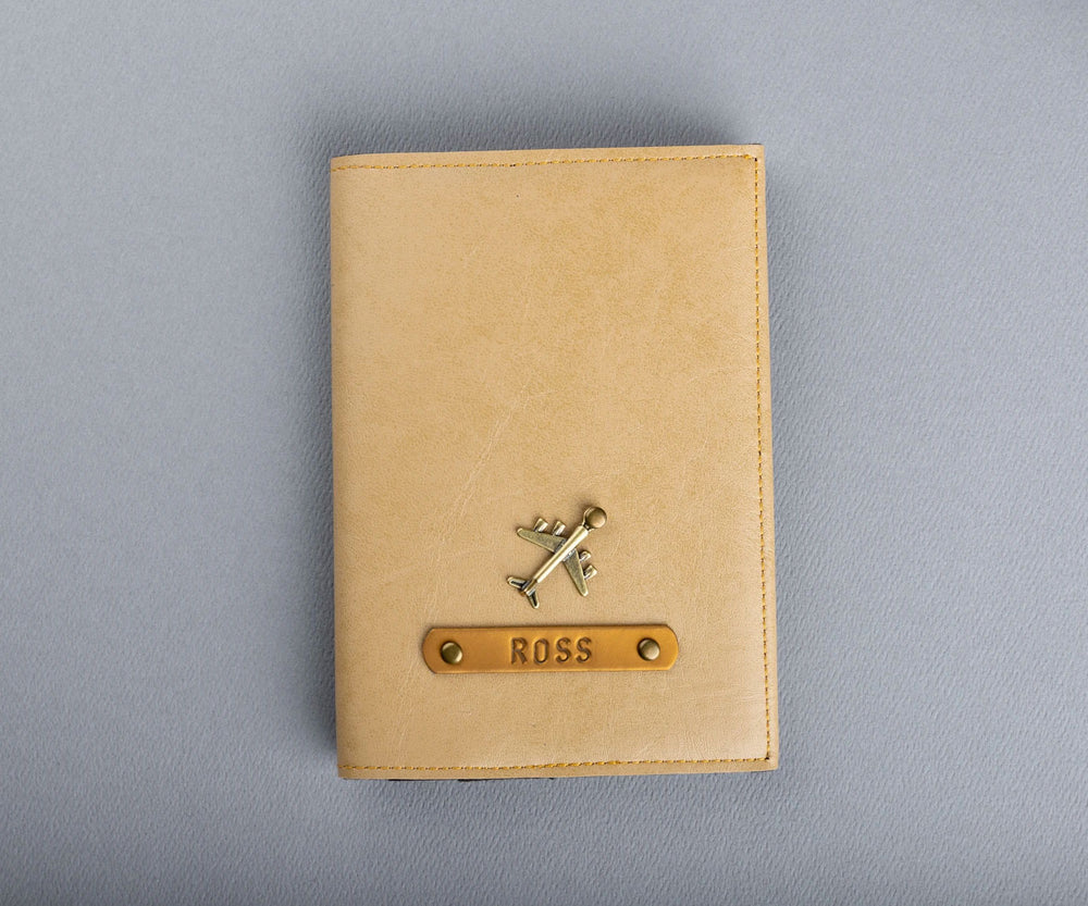 Cream Frequent Flyer Passport Cover