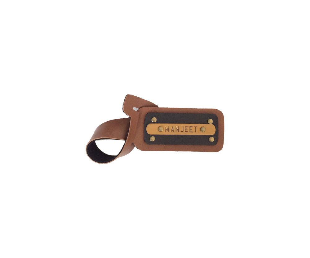 Tan with Black Luggage Tag - The Junket