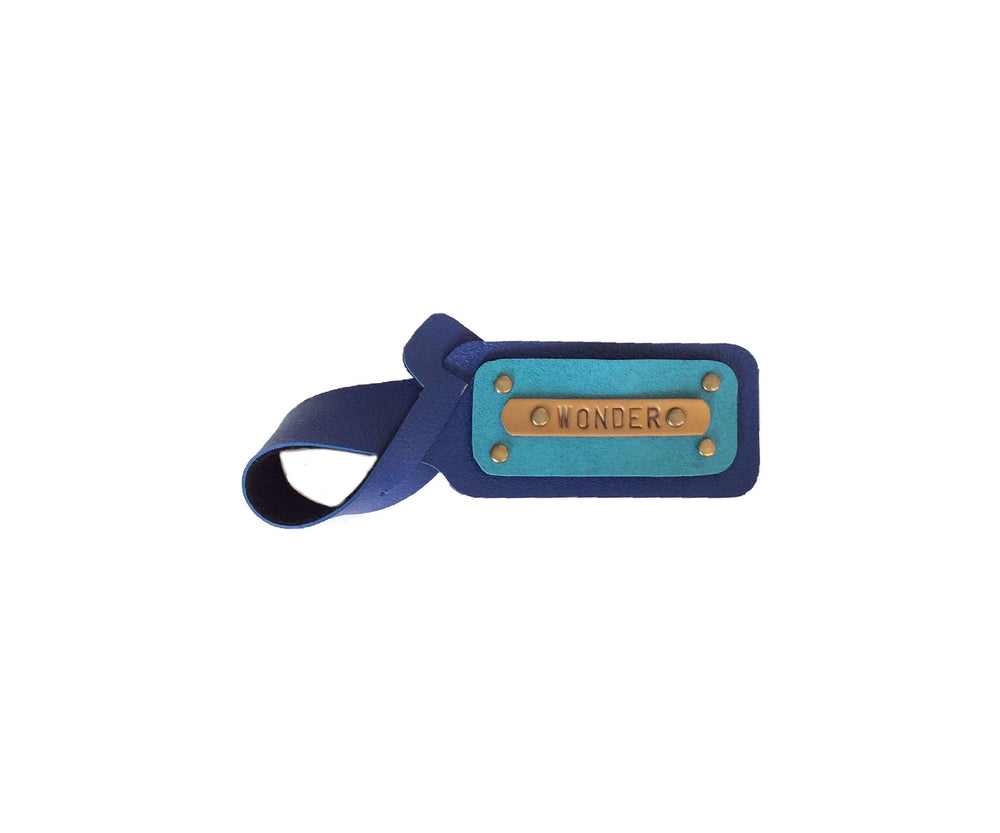 Navy Blue with Ferozi Luggage Tag