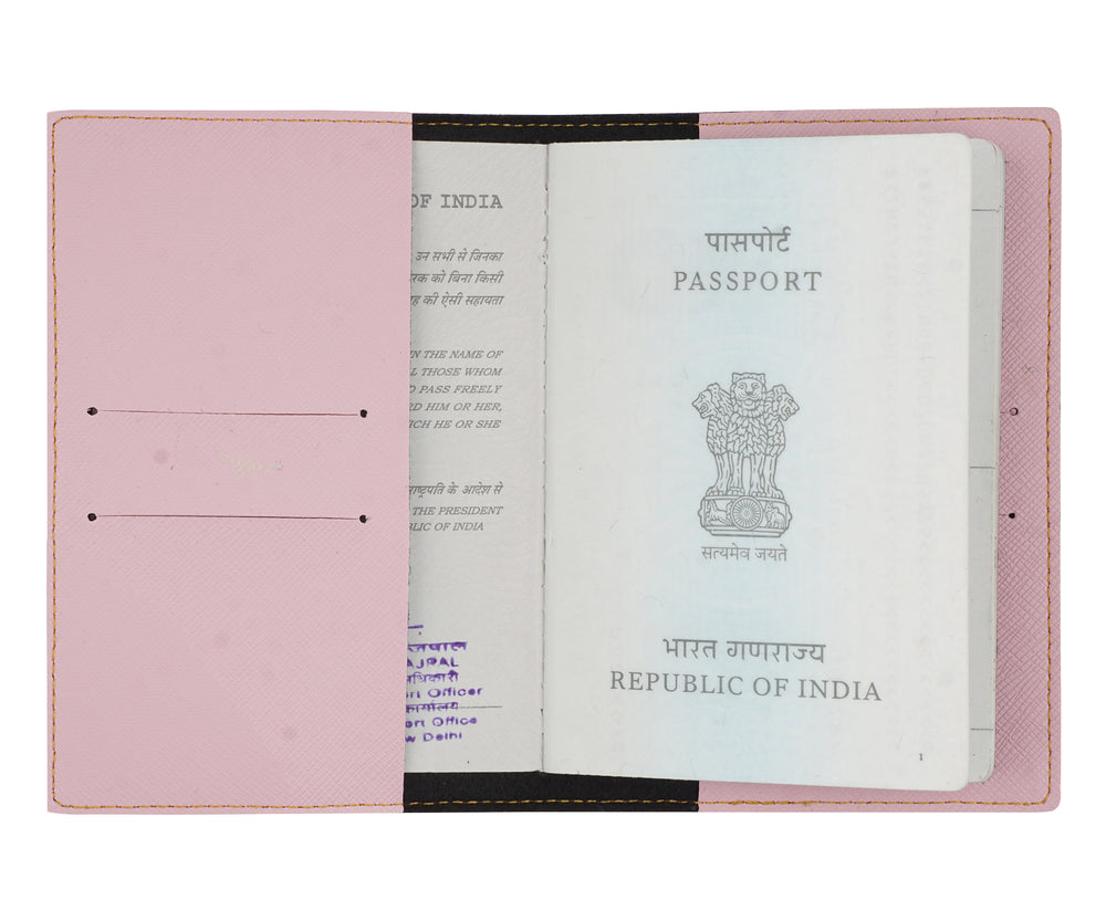 Baby Pink Textured Passport Cover - The Junket